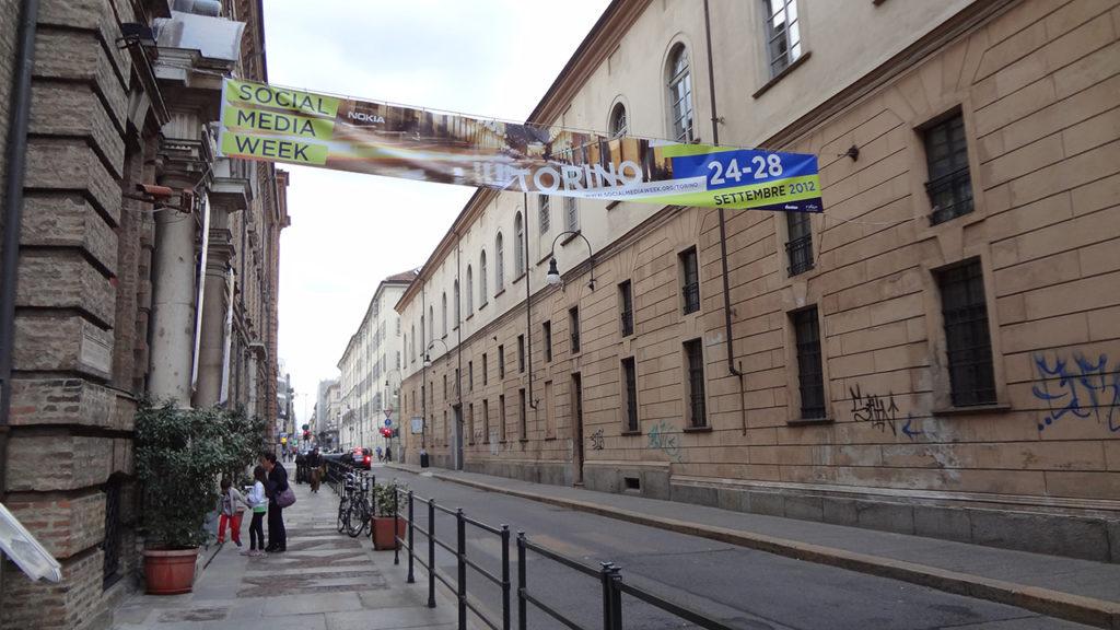 Banner tensionato per manifestazione.