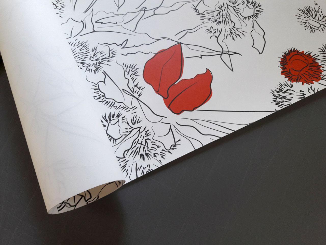 Stampa di carta da parati personalizzata a torino sece for Carta parati torino