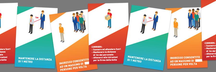 segnaletica covid 19, stampa cartelli coronavirus, stampa torino