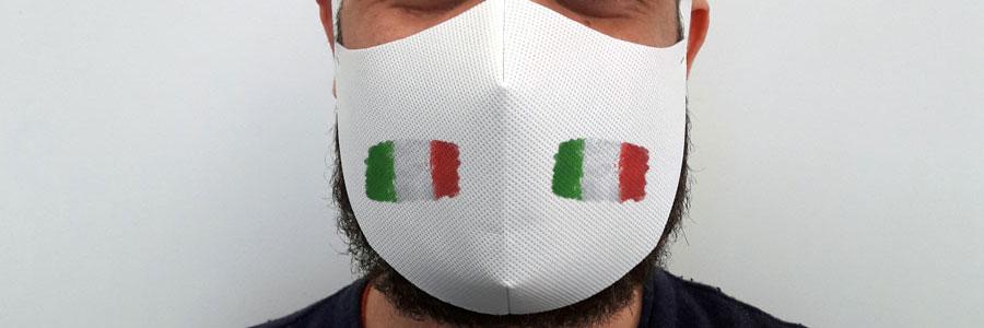 mascherina personalizzata bandiera italiana