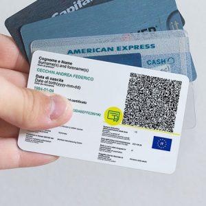 Stampa green pass su card in PVC